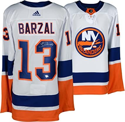 Mathew Barzal New York Islanders Autographed White Adidas Authentic