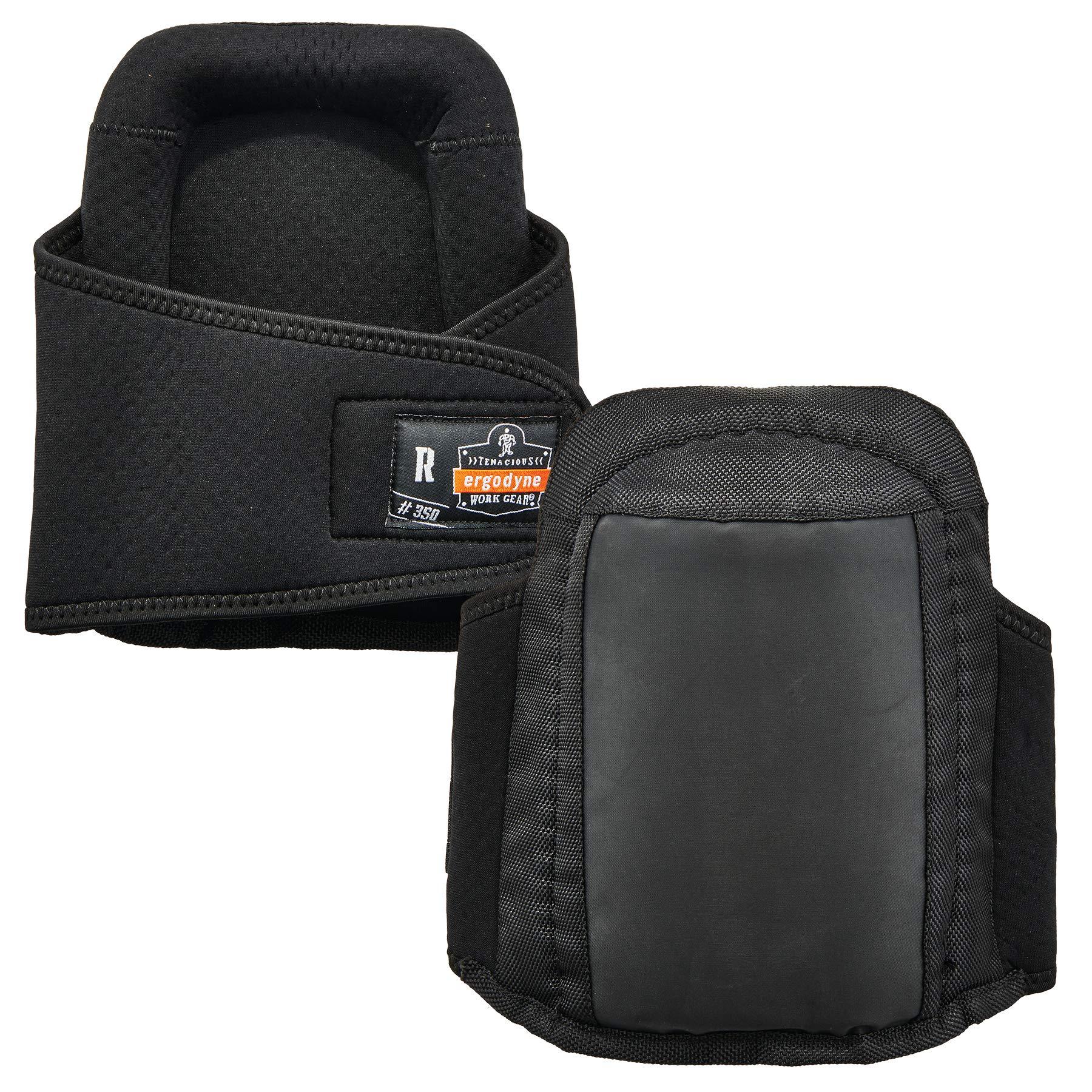 Ergodyne ProFlex 350 Protective Slip-Resistant Knee Pads, Gel Foam Padded Technology, Adjustable Straps, Black by Ergodyne
