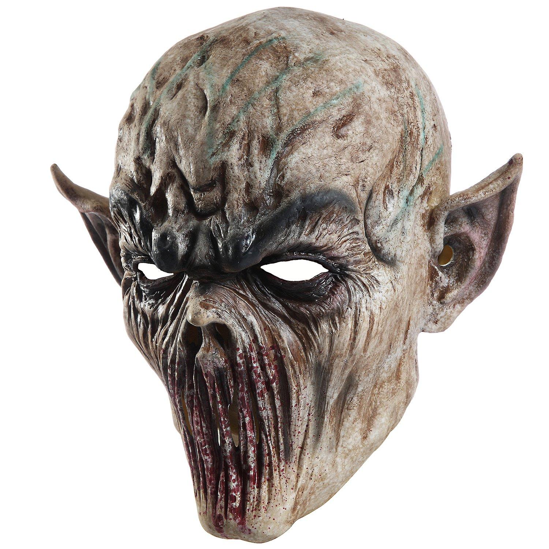 Halloween Zombie Head mask Scary Death Cosplay Evil Prop Alien Bloody Masks