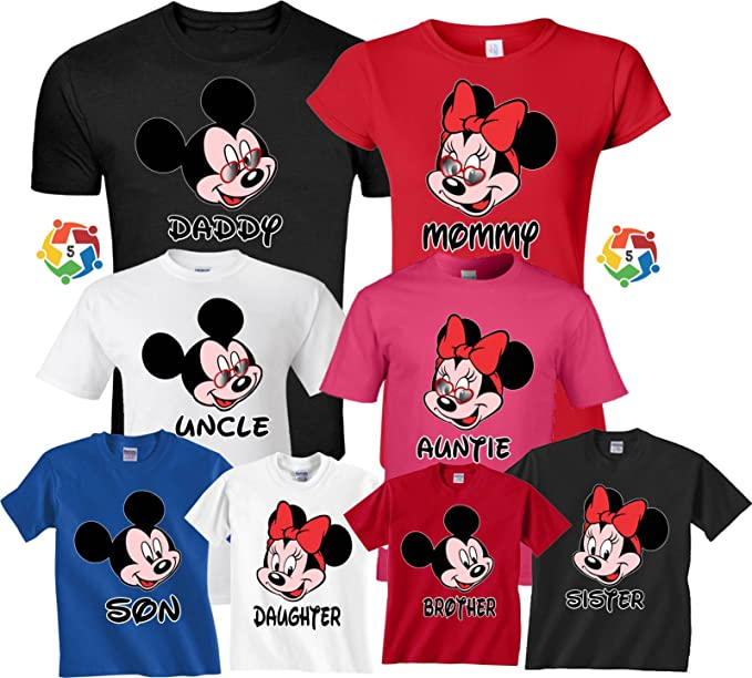 ec1046da Family Vacation 2018 Mickey & Minnie Birthday Boy Girl Matching Shirts XS  Youth ...