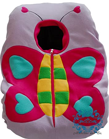 Amazon Com Infant Car Seat Fleece Cover Butterfly Design Baby