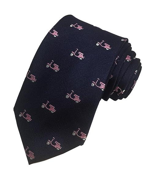 Simon Carter London pour homme 100% soie Col Cravate Bleu marine Rose    Mobylette f5063721a40a