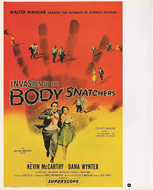"""2003 Vintage SCI-FI /""""INVASION OF THE BODY SNATCHERS COLOR Lithograph MINI POSTER"""
