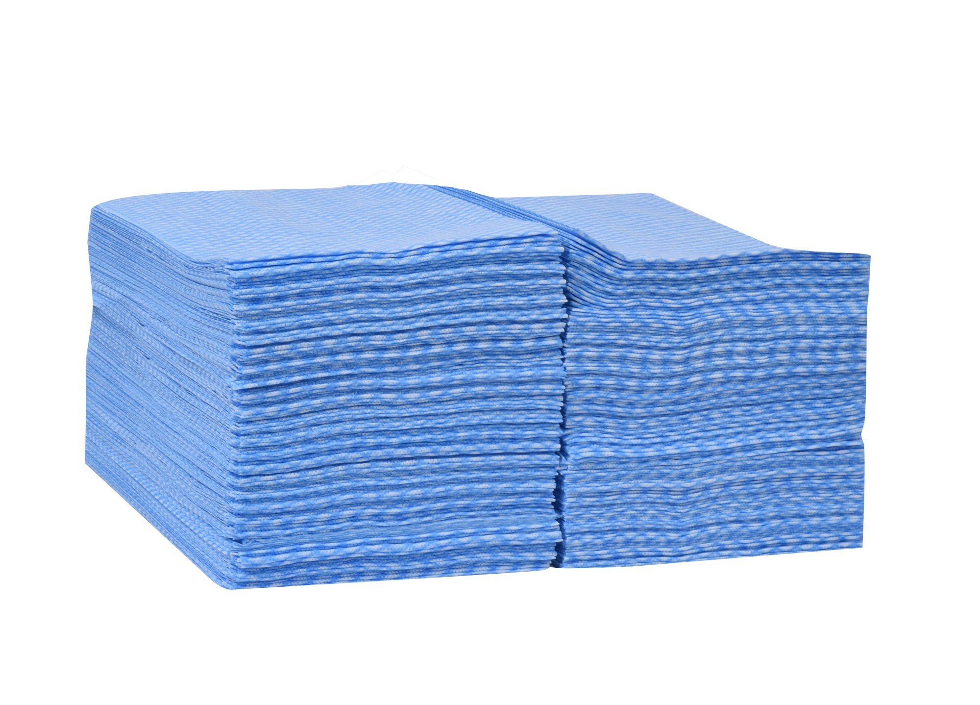 Tork 192181A Foodservice Cloth, 1/4 Fold, 1-Ply, 13'' Width x 21'' Length, Blue/White (Case of 1 Box, 240 Cloths) by Tork (Image #2)