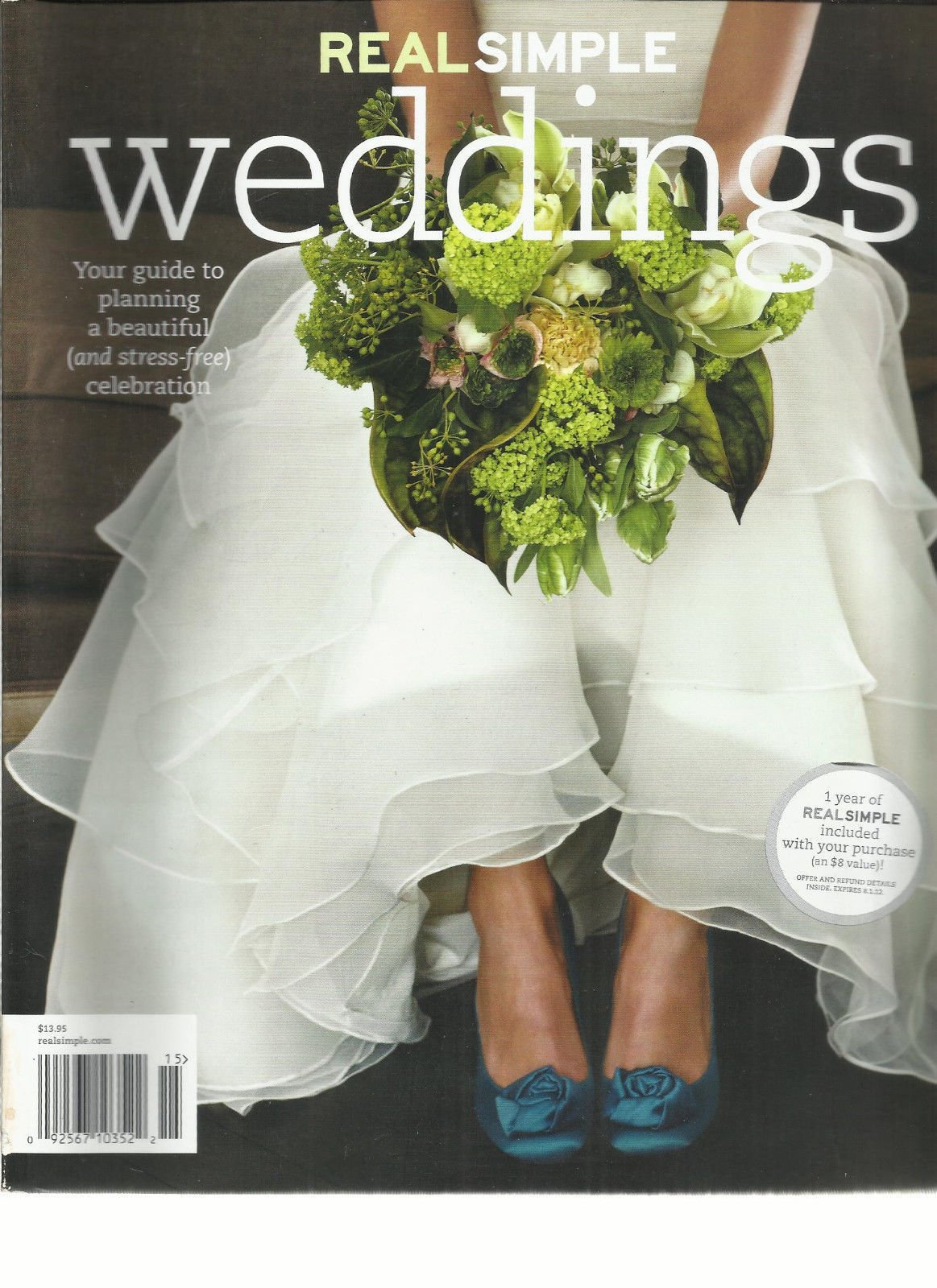 REAL SIMPLE WEDDINGS MAGAZINE 2012, YOUR GUIDE TO PLANNING WEDDING, NEW NO LABEL