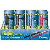 Pilot FriXion Clicker Retractable Erasable Gel Pens, Fine Point, Assorted Color Inks, 2 Pens/Pack, 36 Packs, Total of 72 Pens (57091)