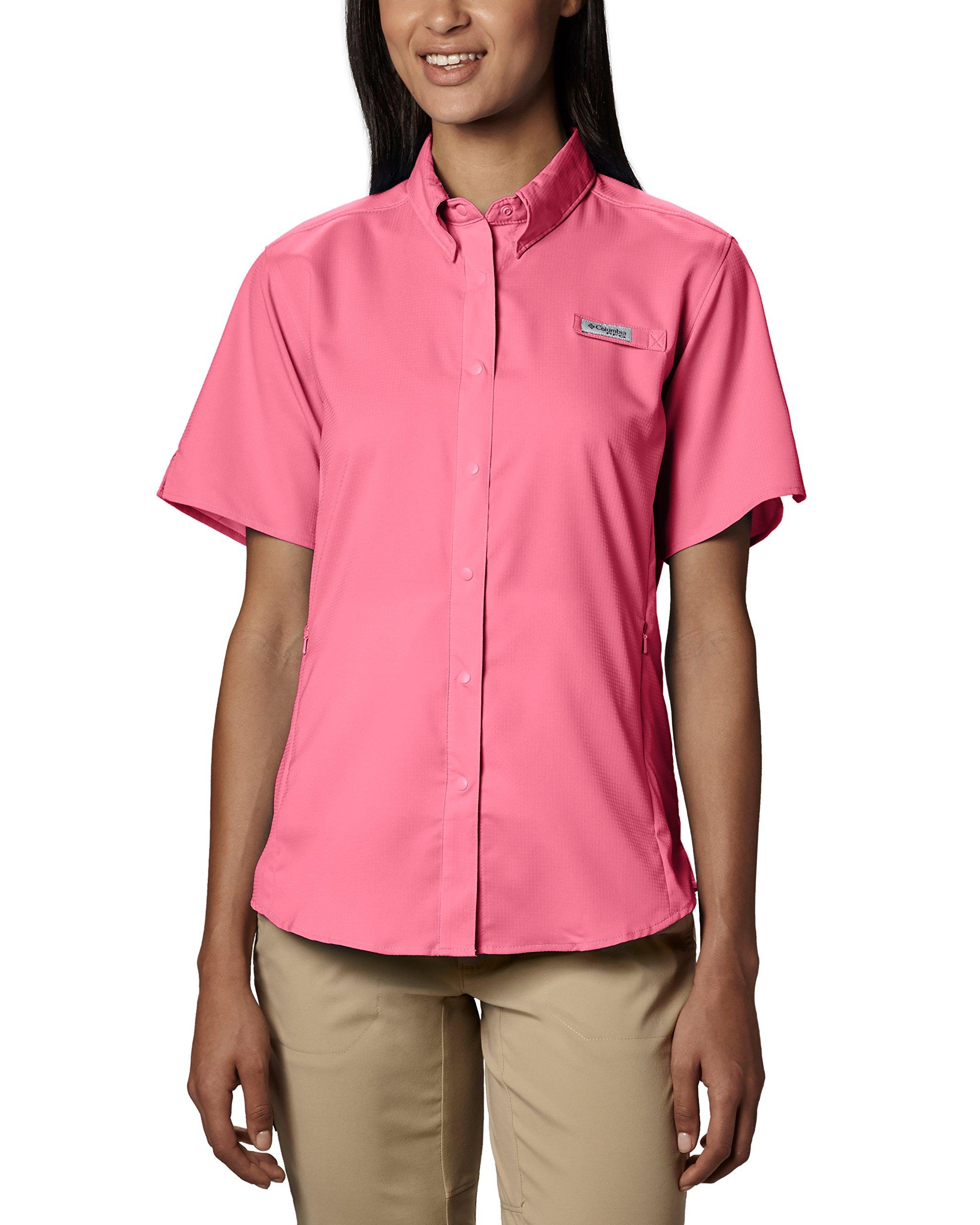 Columbia Women's Tamiami Ii Short Sleeve Shirt, Lollipop, Large