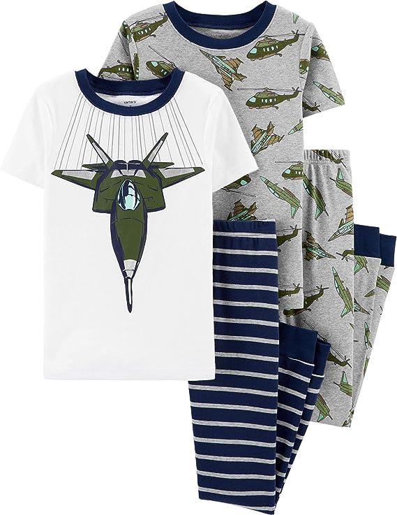 New Carter/'s Boys Spaceship Pajama set Navy Snug Fit LONG Sleeve Pants