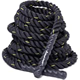 "KYLIN SPORT Battle Rope 1.5"" Width 30FT/40FT/50FT Bootcamp Battling Power Rope Body Strength Training"