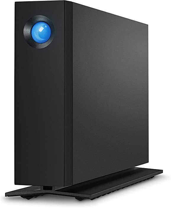 LaCie d2 Professional 10TB External Hard Drive Desktop HDD – Thunderbolt 3 USB-C USB 3.0, 7200 RPM Enterprise Class Drives, for Mac and PC Desktop, 1 Month Adobe CC (STHA10000800)
