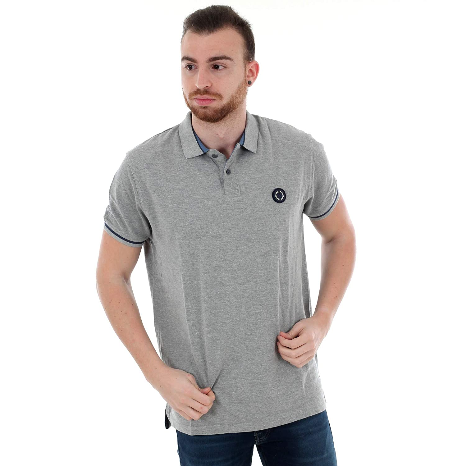 Pepe Jeans Polo Hombre Gris Claro PM541304 Terence - 933 Grey Marl ...