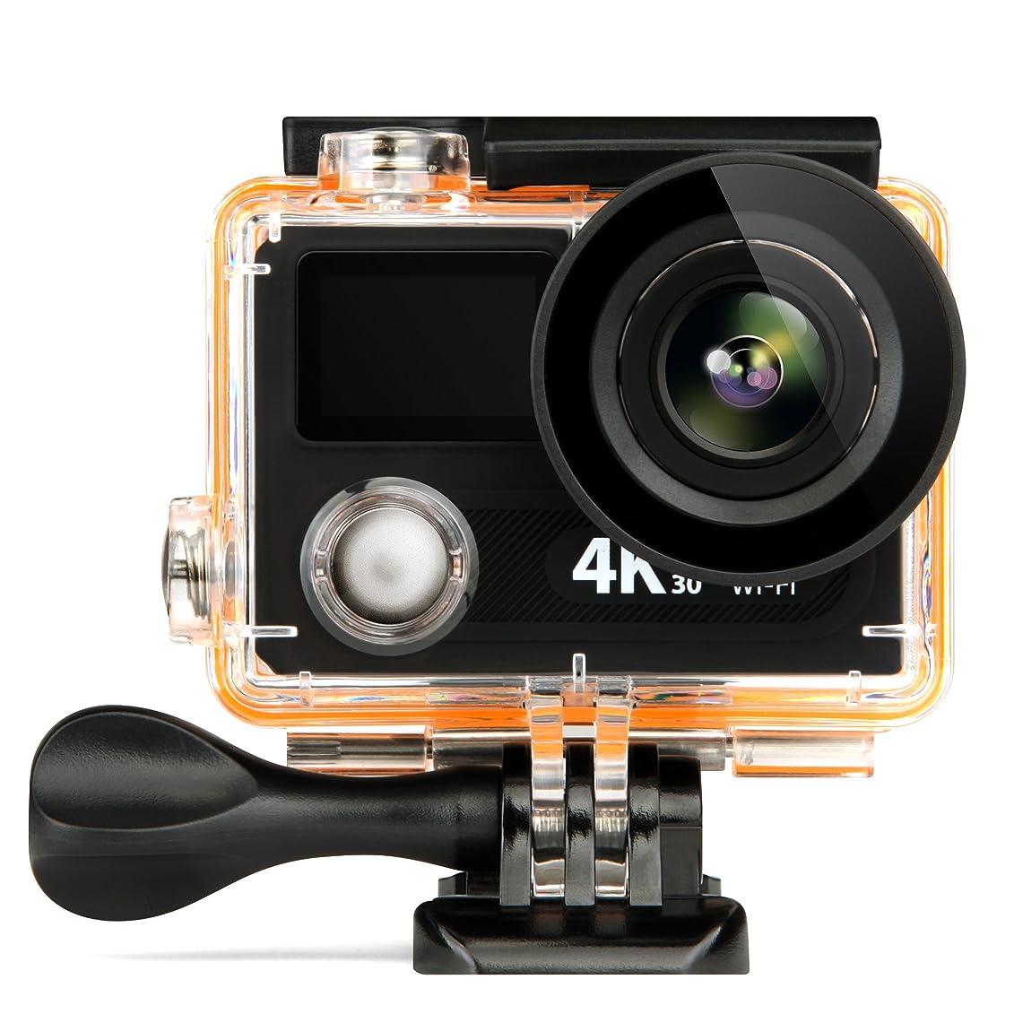 繁雑靴民間人DeXop GAPO PL-03ダブルスクリーンの防水デジタルカメラ2.7インチフロントLCD簡単な自己ショットカメラ 黄