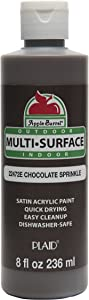 Apple Barrel Multi-Surface Paint in Assorted Colors (8 oz), Chocolate Sprinkle