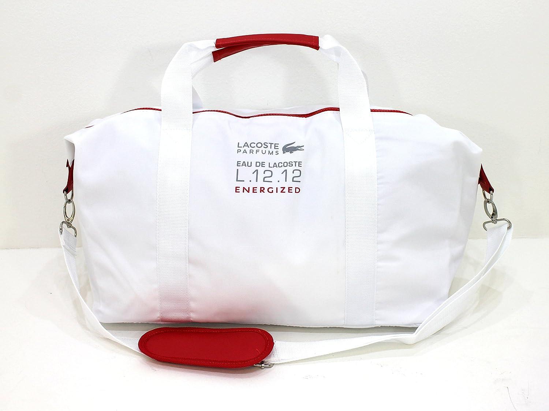 Lacoste L.12.12 Energized Sport - Bolsa de deporte/Gym Bag/Fin de Semana de * NUEVO PARA HOMBRE DE COLOR ROJO Y BLANCO: Amazon.es: Equipaje