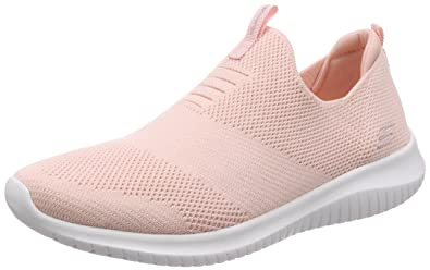 Skechers Womens 12837 Slip on Trainers, Pink (Light Pink), 8 UK 41