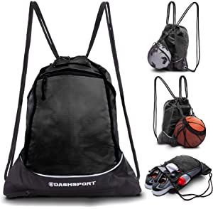 c4181b88ead1 Amazon.com: SKL Drawstring Bag Backpack with Ball Shoe Compartment ...