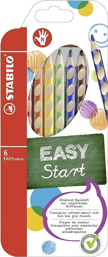 STABILO EASYCOLORS Confezione 6 Matite Colorate Ergonomiche per Destri 332//6