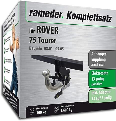 rameder Juego completo, remolque extraíble + 13POL Elektrik para Rover 75 Tourer (117303 –