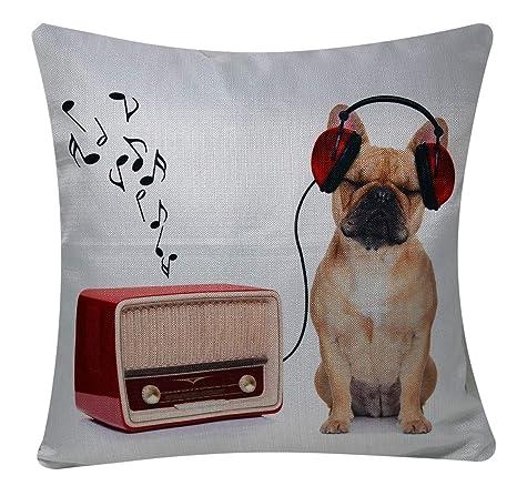 Bullahshah Bulldog francés Que Escucha la música Animal ...