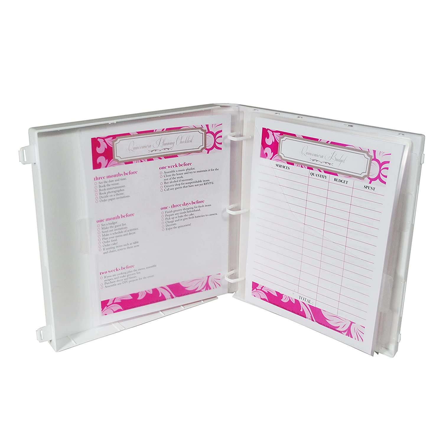 amazon com quinceañera planner pink office products