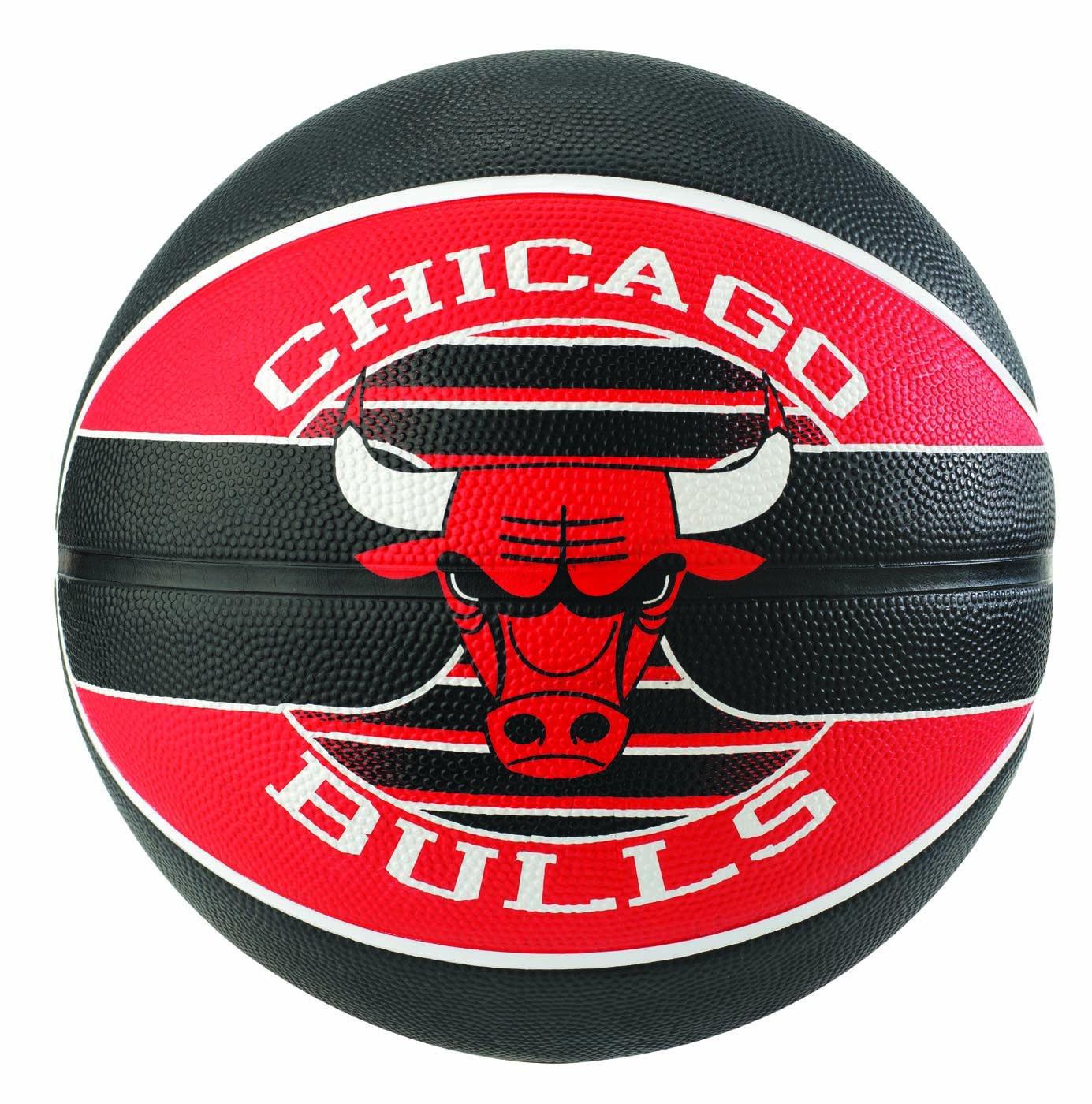 Spalding NBA Team Chicago Bulls Ballon de Basket Mixte SPAA3|#Spalding