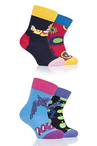 Beatles Sock Box Set 2-3Years Kids Multi