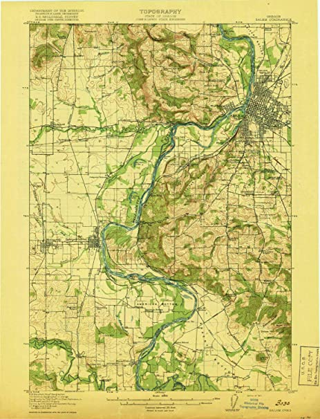 Amazon.com : YellowMaps Salem OR topo map, 1:62500 Scale, 15 ...