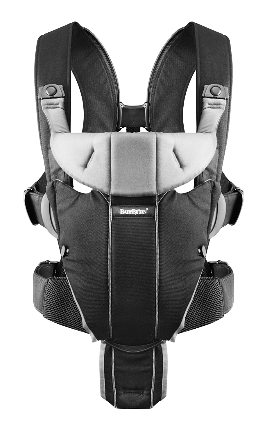 aa7088b69cd BABYBJÖRN Baby Carrier Miracle (Black/Silver, Cotton Mix): Amazon.co.uk:  Baby