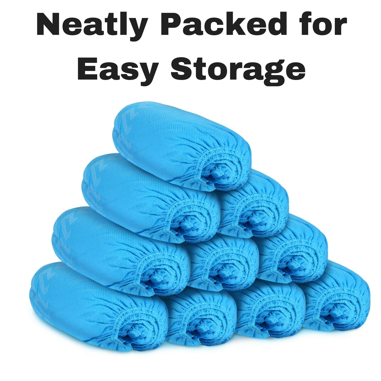 MIFFLIN Disposable Shoe Covers (Blue, 120 Pieces) Durable Boot Covers, Non-Slip Polypropylene, One Size Fits Most by MIFFLIN (Image #7)