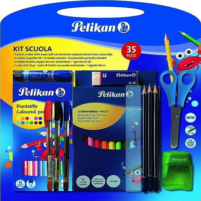 Pelikan 24004619 - Kit escolar completo, 35 piezas, pegamento ...