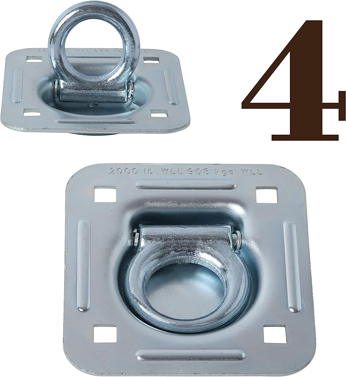 4 Pack | D Ring Tie-Down Anchors - photo