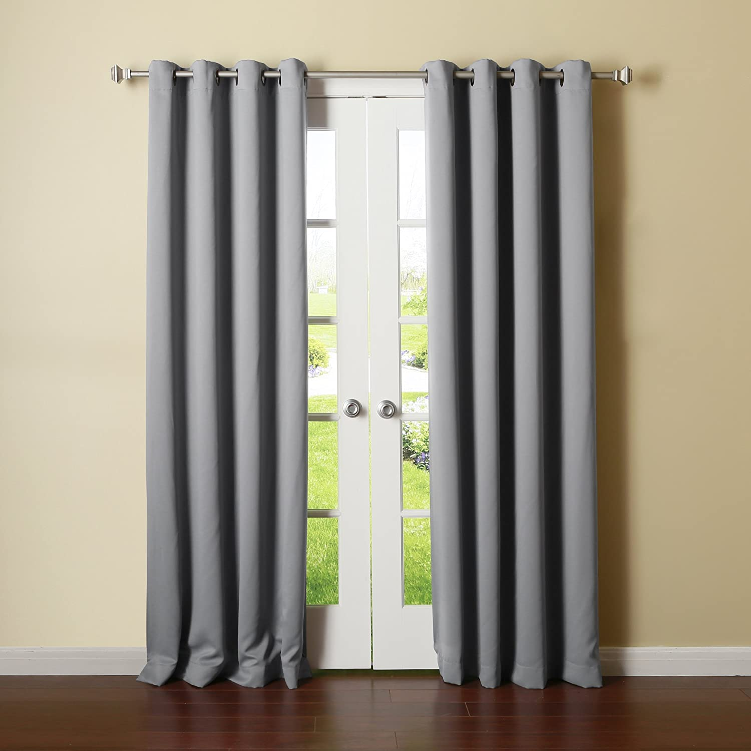 Thermal curtains grey - Amazon Com Best Home Fashion Thermal Insulated Blackout Curtains Antique Bronze Grommet Top Grey 52 W X 84 L Set Of 2 Panels Home Kitchen