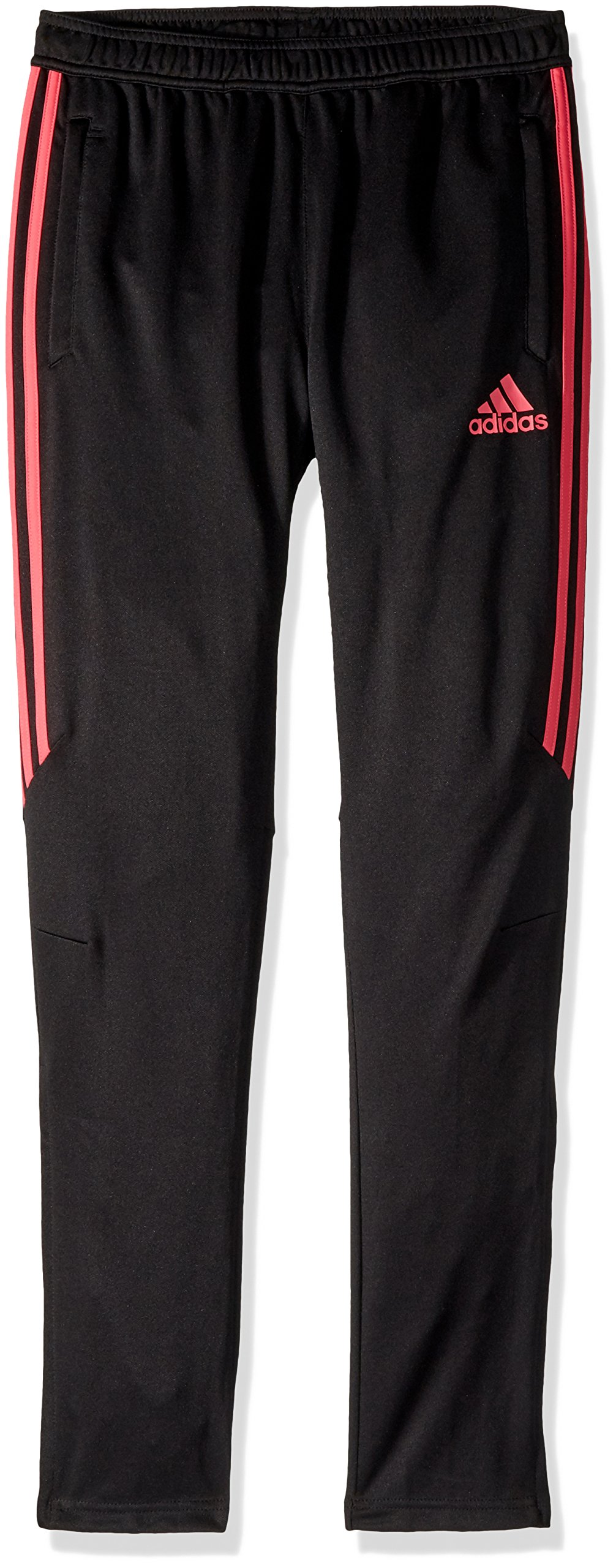 adidas Youth Soccer Tiro 17 Training Pants, Black/Real Pink, Small