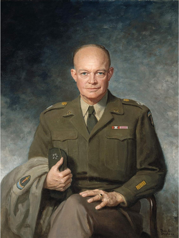 Thomas Edgar Stephens Dwight D Eisenhower Extra Large Art Poster