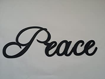 Amazon.com: Peace Word Metal Wall Art Home Decor: Home & Kitchen