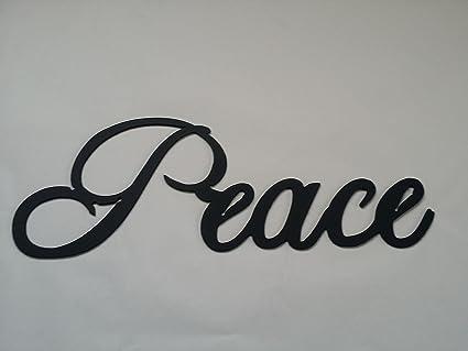 Amazon.com: Peace Word Metal Wall Art Home Decor: Home & Kitchen