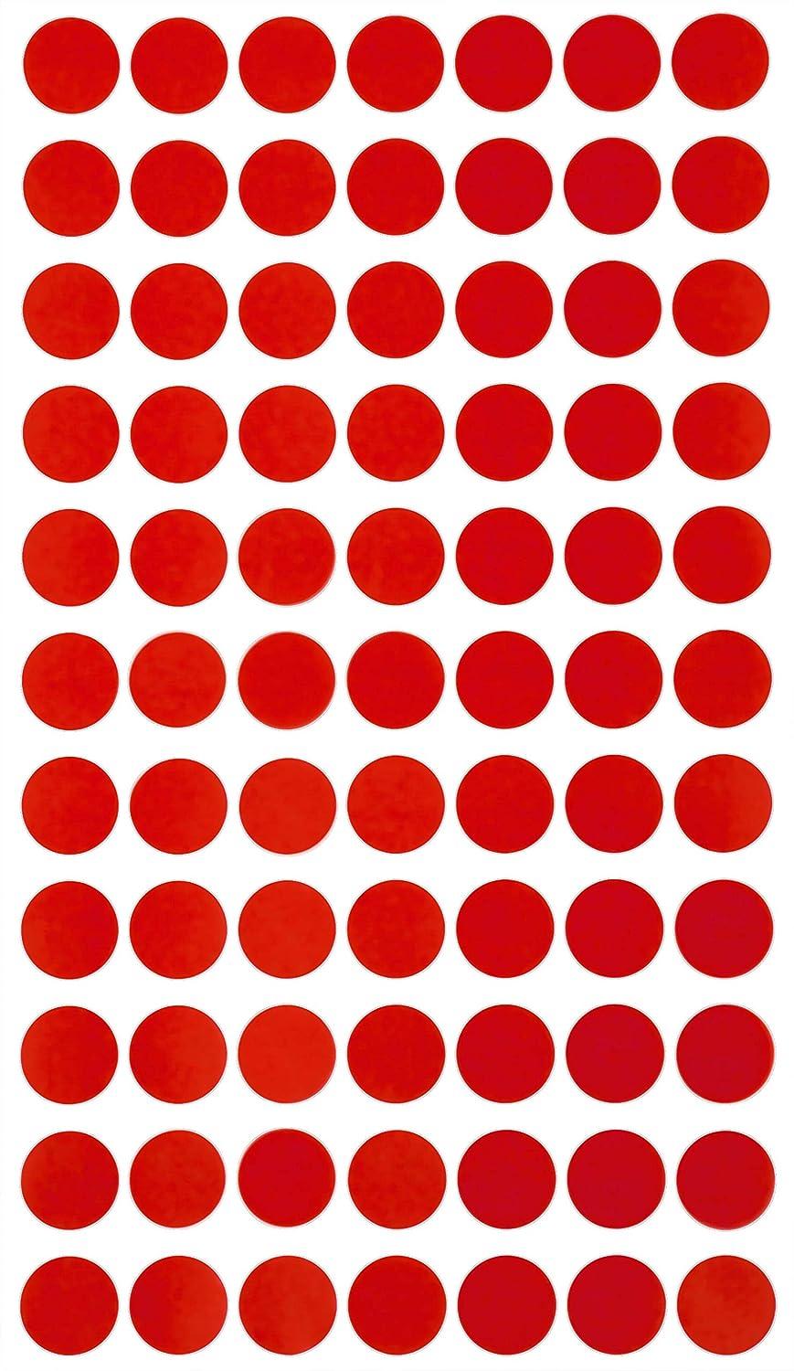 Klebepunkte Schwarz 15 mm runde Sticker in verschiedenen Farben Gr/ö/ße 1,5 cm Durchmesser Aufkleber 1540 Vorteilspack von Royal Green