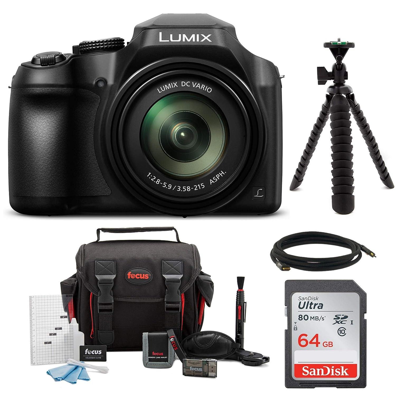 Panasonic Lumix DMC - fz80 4 Kロングズームカメラ(18.1メガピクセル、60 x 20 – 1200 mmレンズ+ 64 GB Accessoryバンドル   B06XSJFTRS