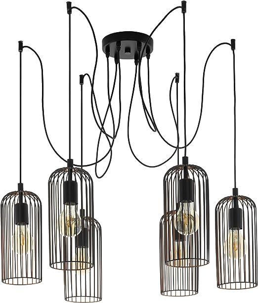 1/luci Lampada a sospensione Metallo Nero//Rame 1/X E27/max 60/W