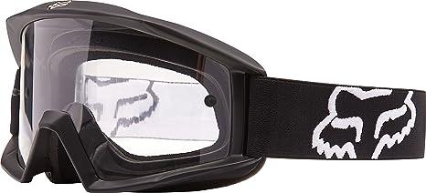 5ca98d5cb38 Amazon.com  2016 Fox Racing Main Goggle - Matte Black Clear Lens ...