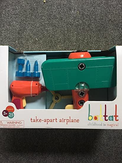 Amazon.com: Battat take-apart avión, verde: Toys & Games