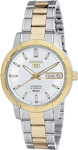 Amazon Com Snk892k1 Seiko 5 Automatic Ladies Analog Silver Business Automatic Seiko Watches