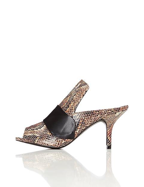 FIND Sandalo con Tacco Donna  Amazon.it  Scarpe e borse f99c17bb877