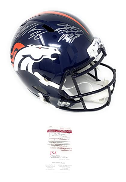 29534e2bd8e Von Miller Denver Broncos Signed Autograph Speed Full Size Helmet SB 50 MVP  INSCRIBED JSA Certified