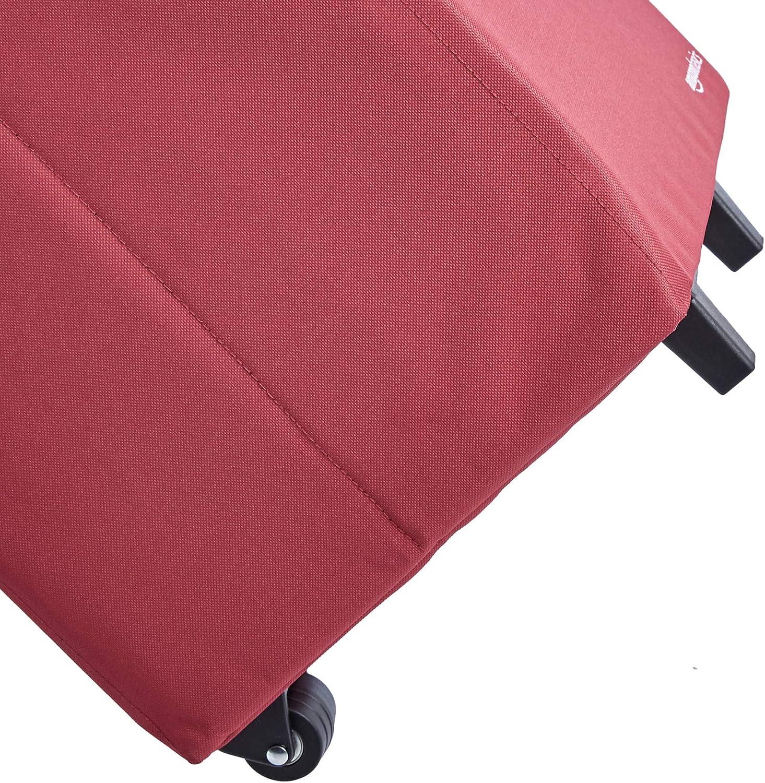 Basics Chariot de courses l/éger et pliable Hauteur 102 centim/ètres poign/ée incluse Rouge