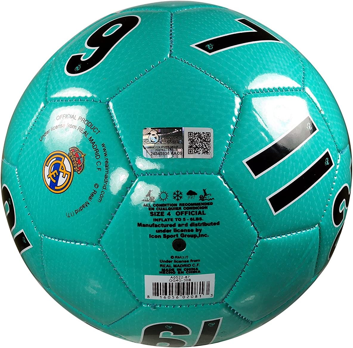 Real Madrid C.F Authentic Official Licensed Soccer Ball Size 5-004