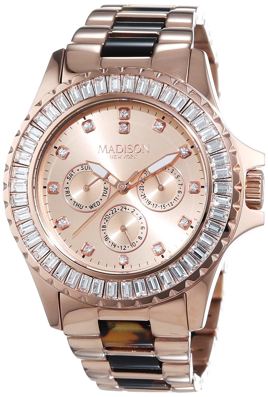 MADISON NEW YORK Damen-Armbanduhr GLAMOR Analog Quarz verschiedene Materialien L4794D2