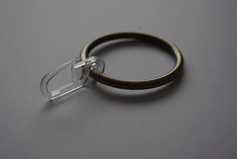 Anneau de rideau Crochets pour voile Drapes Bronze/doré antique Ø40mm (lot de 10) GNTS Decor Ltd