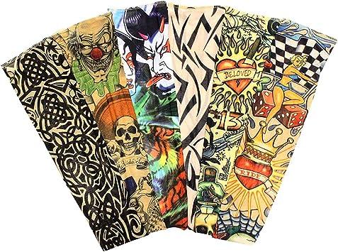 Mangas tatuadas(12 Piezas) - Mangas temporales falso tatuaje de ...