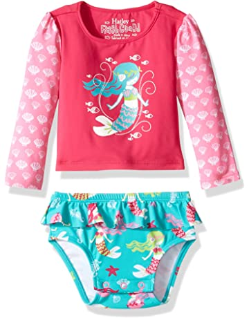 a060444044 Hatley Girls' Baby Rash Guard Set Swim Shirt